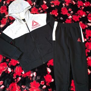 Reebok boys outfit tracksuit hoodie pants size 4